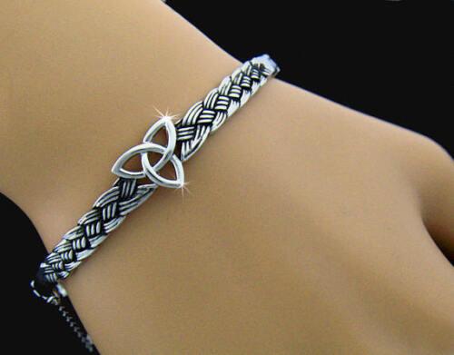 """The Strength of Three,"" Trinity Celtic knot Bangle Bracelet"