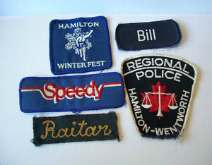 FIVE Patches Speedy, Hamilton Winterfest Wentworth Police, Bill