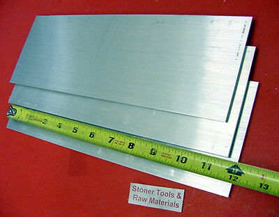 3 Pieces 14 X 4 Aluminum 6061 Flat Bar 12 Long T6511 .25 New Mill Stock