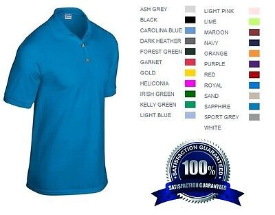 24 Custom Embroidered * FREE LOGO Dry Blend POLO SHIRTS Embroidery Personalized