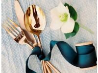 Wedding Cutlery 220 Piece set With Heart Detail