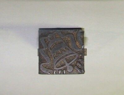 Small Printing Letterpress Printers Block Christmas Bell Vintage Antique Stamp