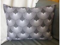 NEW Accent cushion Art Deco style Grey/Black zazzle custom design print- 9ono