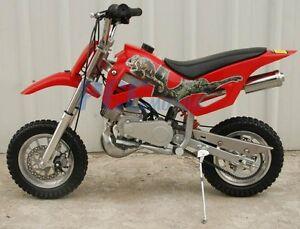 KIDS 49cc 2-Stroke GAS Motor Mini Pocket Dirt Bike Free S/H RED M DB49A
