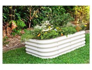 6 In 1 Raised Garden Bed Planter CREAM Merino 6 Styles 40cm Garden Flower  Plants