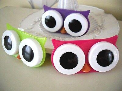 Cute Owl Design Contact Lens Case Holder Novelty Fun Kid Animal Gift UK (Novelty Contact Lenses)