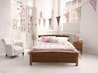 Double Bed Warren Evans - Mattress & Wooden Frame (Can be taken apart)- £350