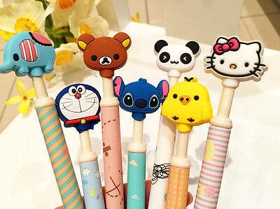 2 x Rilakkuma Bear Panda Elephant Ball Point pen Party  Kids novelty stationery
