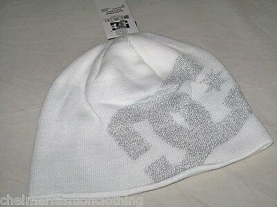 BNWT - DC SHOES Big Star Beanie Hat   White Dc Shoes Big Star