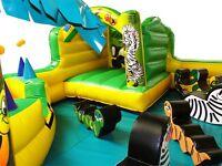 Mobile Jungle Play Park Soft Play - Bouncy Castle