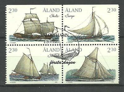 ALAND - SAILING Sailboats, Åland Islands set 1995, used