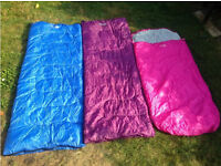 3 sleeping bags - 2 x adult, 1 x child - NEW! ONLY USED ONCE!