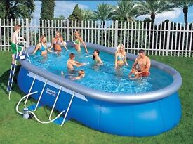 20ft long above ground swimming pool
