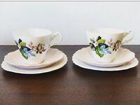 Springfield bone china tea set x2