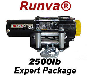 2500lb-New-Runva-ATV-UTV-12V-Towing-Recovery-Electric-Winch-Kit