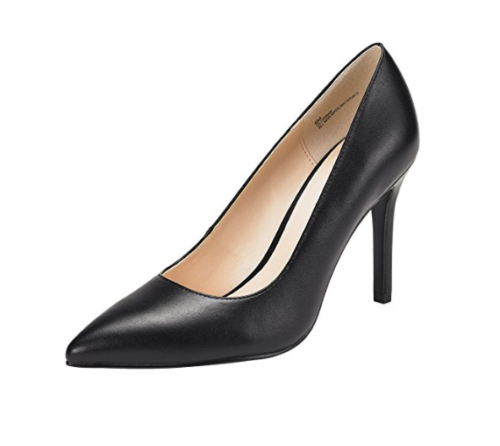Jenn Ardor Stiletto High Heel Shoes by Closed Toe Classic Slip On Pump Black