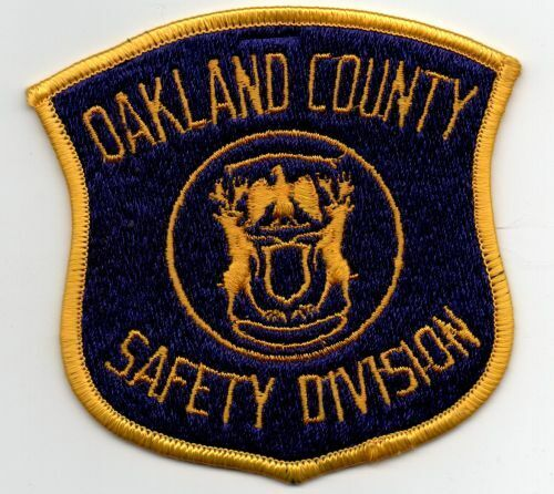 MICHIGAN MI OAKLAND COUNTY SAFETY DIVISION PATCH POLICE SHERIFF