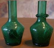 Green Crackle Glass Vase