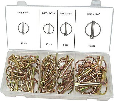 Swordfish 31170 - 50pc Lynch Pin Assortment Kit Hitch Steel Trailer Pins