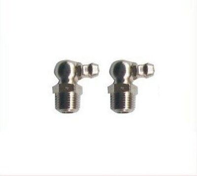 2 Pieces Grease Fitting NPT NP Pipe 1/4-18 Zerk Nipple 90 Deg Degree N-CS
