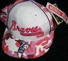 Atlanta Braves Pink MLB Fan Cap, Hats