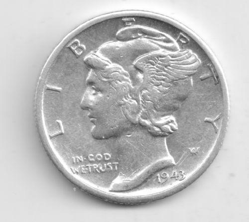 1943 Mercury Silver Dime Ebay