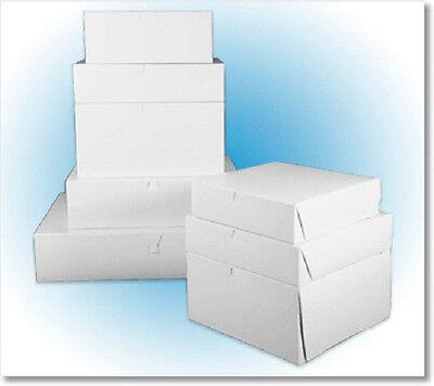 14 X 14 X 6 White Cake Box Pastry Bakery 1-pclock Corner 10 Boxes