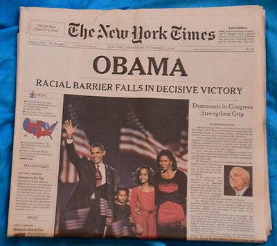 New York Times - Obama Election