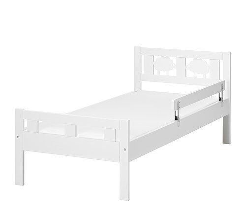 Ikea KRITTER Toddler Bed Including Mattress Guard Rail And Linen