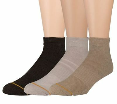 GOLD TOE Men's 12 PAIR PACK NO SHOW LINER ANKLE SOCKS White Cotton SHOE 6-12  Gold Toe Cotton Ankle Socks