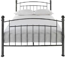 PEWTER DOUBLE BED FRAME