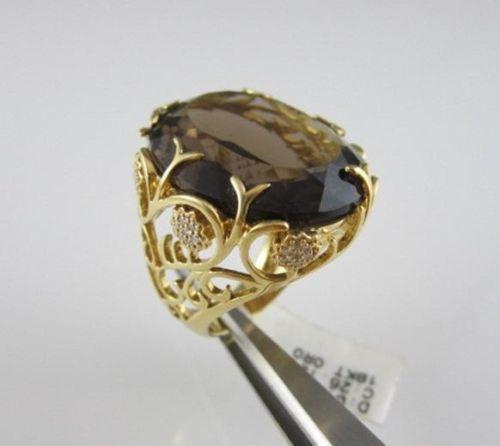 antique smokey topaz ring ebay