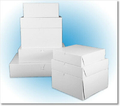 8 X 8 X 5 White Cake Box Pastry Bakery 1-piecelock Corner 10 Boxes