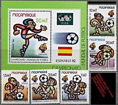 MOZAMBIQUE. 1982 SPAIN = SOCCER / FOOTBALL WORLD CUP + S/S  MNH **