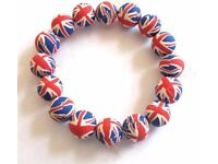 BULK SALE OF UNION JACK BEADED BRACELET'S -OFFICIAL PRODUCT- BRAND NEW WITH TAG'S - MAKE ME AN OFFER