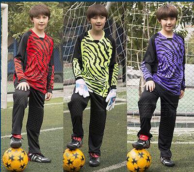 7357 Boys Men Soccer Goalie Uniform Children Adult Jersey+ P