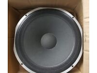 2 x Fane Studio 15B 8 Ohm 200 watt Speakers