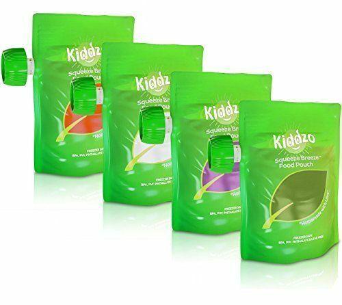 Kiddzo Squeeze Breeze Food Pouch  6oz (45 Pack) NEW