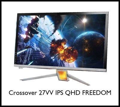 """CROSSOVER NEW 27VV IPS QHD Freedom 27"""" Monitor AH-VA IPS 60Hz RealClock Monitor"""