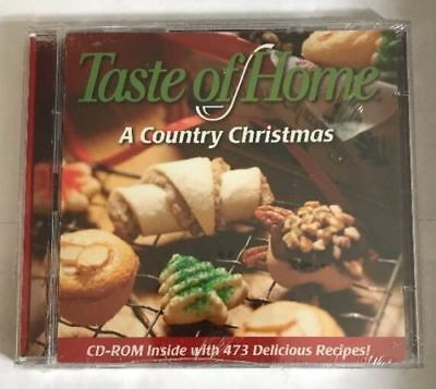New: TASTE OF HOME: A COUNTRY CHRISTMAS CD (BONUS CD-ROM WITH 473 RECIPES!)