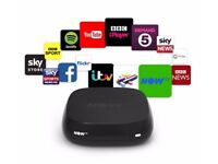 sky now tv box - black - new with accessories