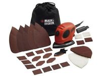 Black and Decker Mouse Detail Sander with Accessories-55W