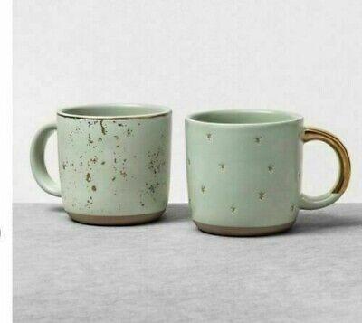 Hearth and Hand Magnolia Mini Coffee Mug Set Of 4, Green Sage -