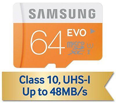Samsung EVO 64GB Micro SD SDXC Order 10 Memory Card for Samsung Galaxy S3 S4 S5