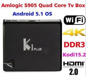 ???2016 K1 PLUS Android Media TV Box 64 bit quad core 4k 1080 HD???