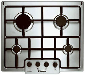Candy PG640/1XINT 4 Burner 60cm Kitchen Stainless Steel Intergrated Gas Hob