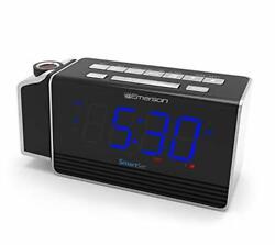 Emerson SmartSet Projection Alarm Clock Radio with USB Charging for Iphone/Ipad/