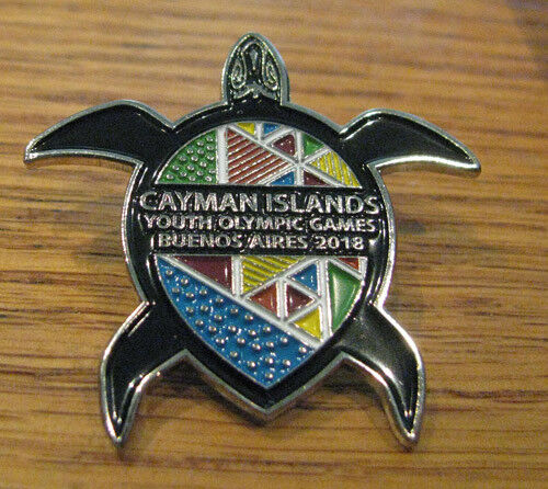 BUENOS AIRES 2018 YOG OLYMPIC GAMES Cayman Islands NOC Team Turtle Rare LE Pin