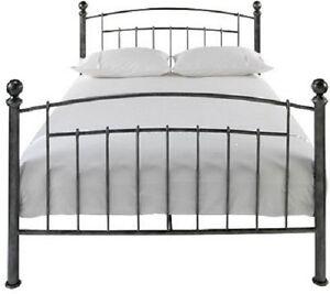 wrought iron bed ebay. Black Bedroom Furniture Sets. Home Design Ideas