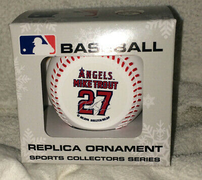 LA Anaheim ANGELS MIKE TROUT #27 BASEBALL CHRISTMAS ORNAMENT NEW IN -